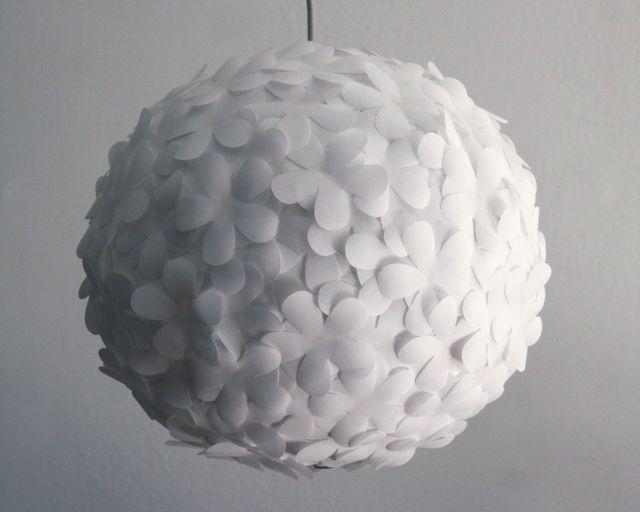 Fabulous Paper Pendant Light luxury ball chandelier design ideas White Paper Flower Pendant Light