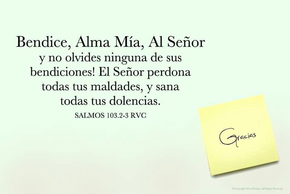 Bendice, Alma Mía, a Jehová