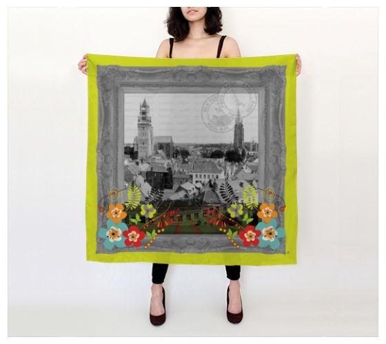 Vintage Frame Europe Designer Silk Scarves Made To Order In
