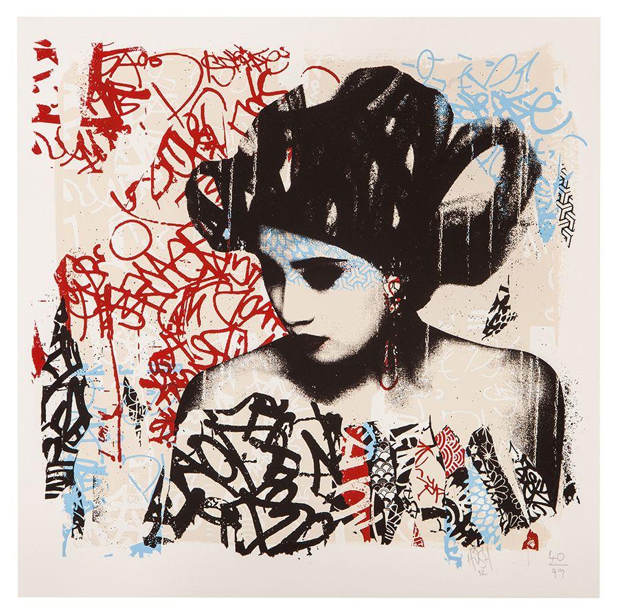 geisha art Japanese pop art, Rise art, Japanese