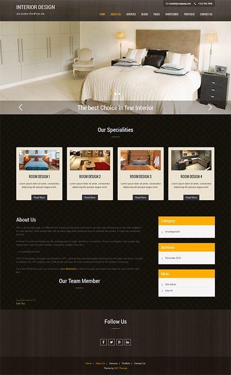 Free Interior design WordPress Theme for interior architecture ...