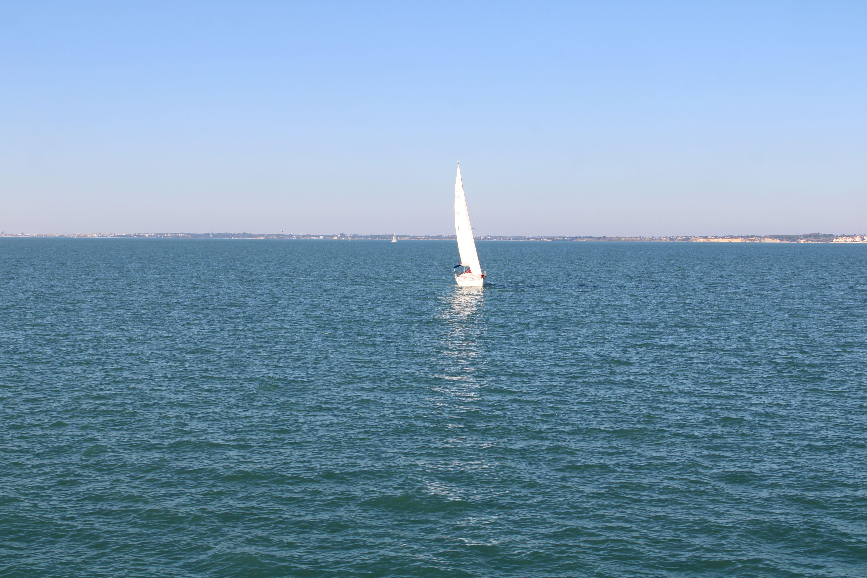 paisajes fotografiados desde el catamarán de la bahía de Cádiz