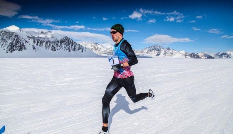 Récord de la milla en la Antártida corriendo a 240 min/km - resumen 8 millas