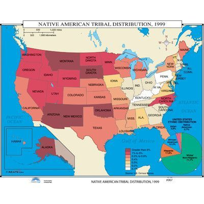 Universal Map US History Wall Maps Native American Tribal - Indian nation map us