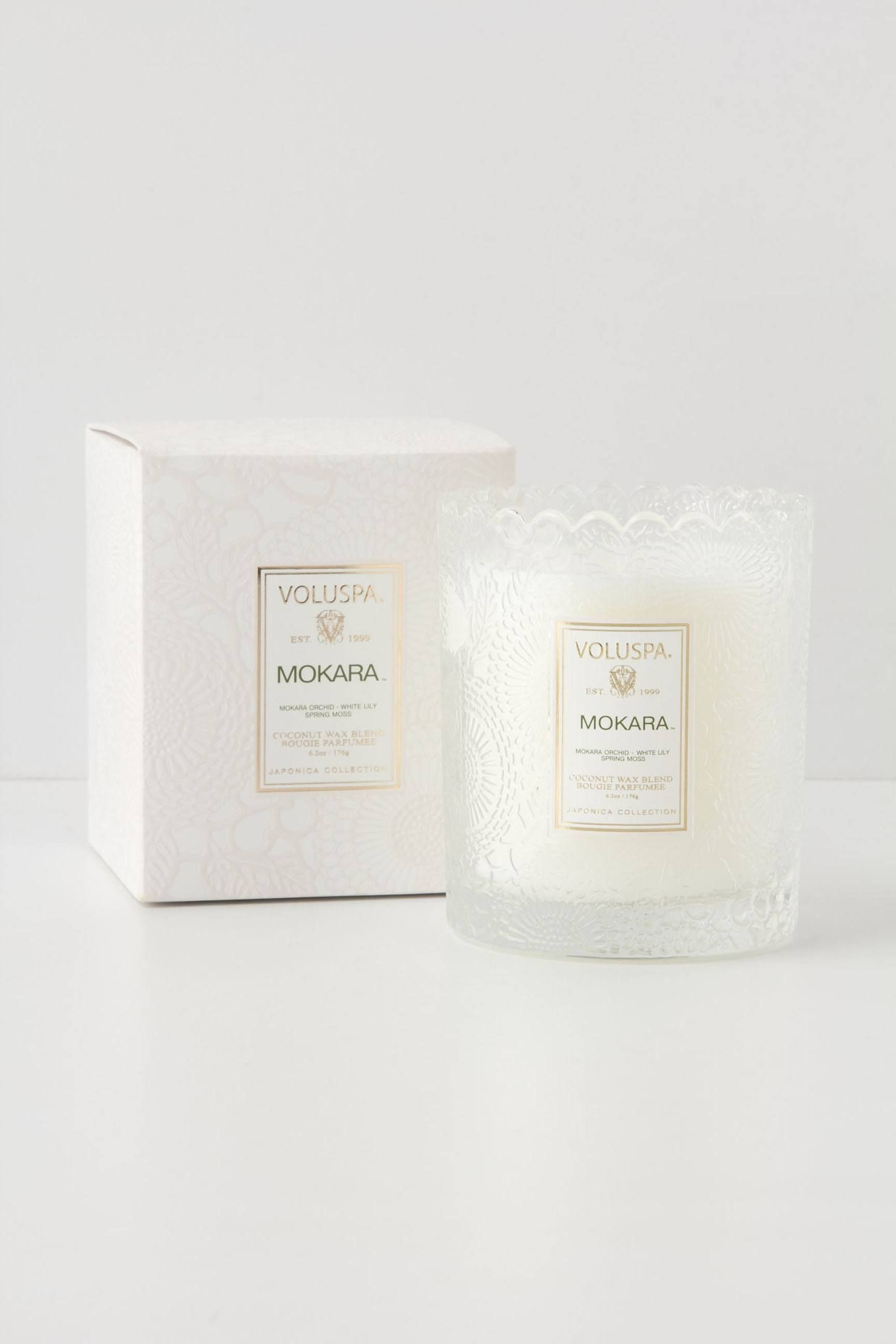 Voluspa Boxed Candle - anthropologie com My favorite candle  Mokara