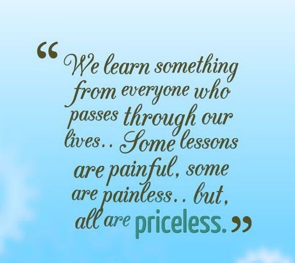 Inspiring Quotes About Life Extraordinary Some Lessons Are Painful Some Are Painless But All Are Priceless
