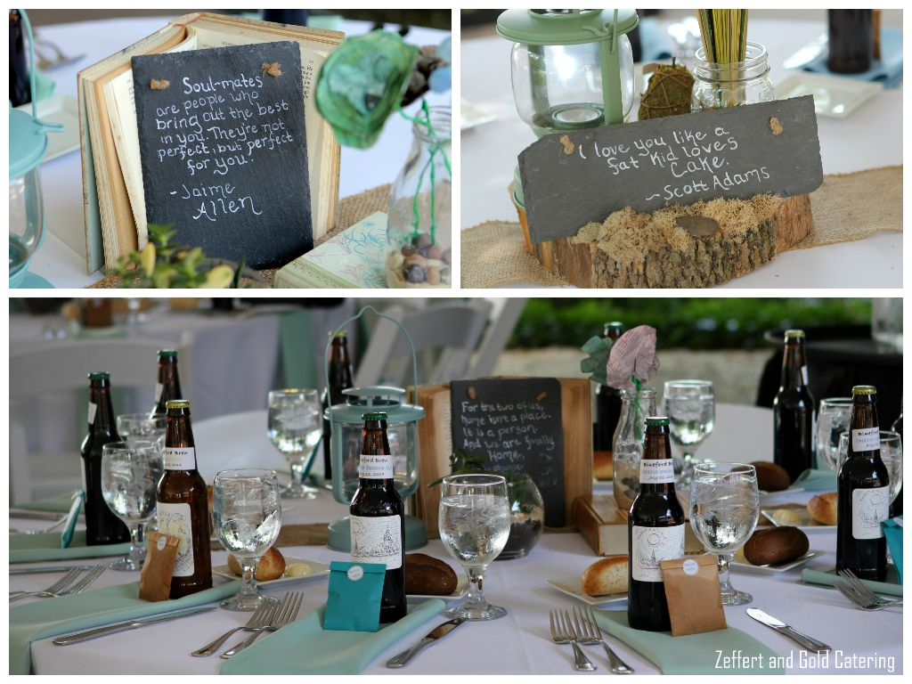 Neat slate boards with quotes for wedding centerpieces these were neat slate boards with quotes for wedding centerpieces these were do it yourself decorations done junglespirit Gallery