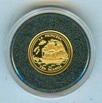 Тонга 10 паанга 1998 Корабль золото