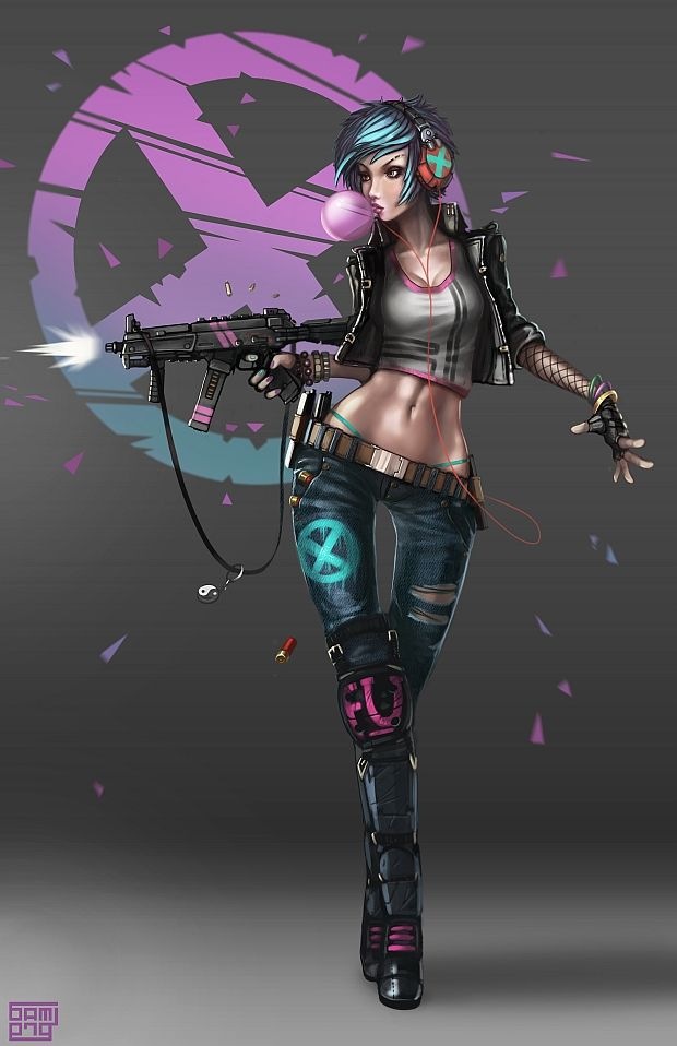 Image from fantasy and syfy..with some cats..NSFW — cybernetic-psychosis:   Black Betty by Brobossa
