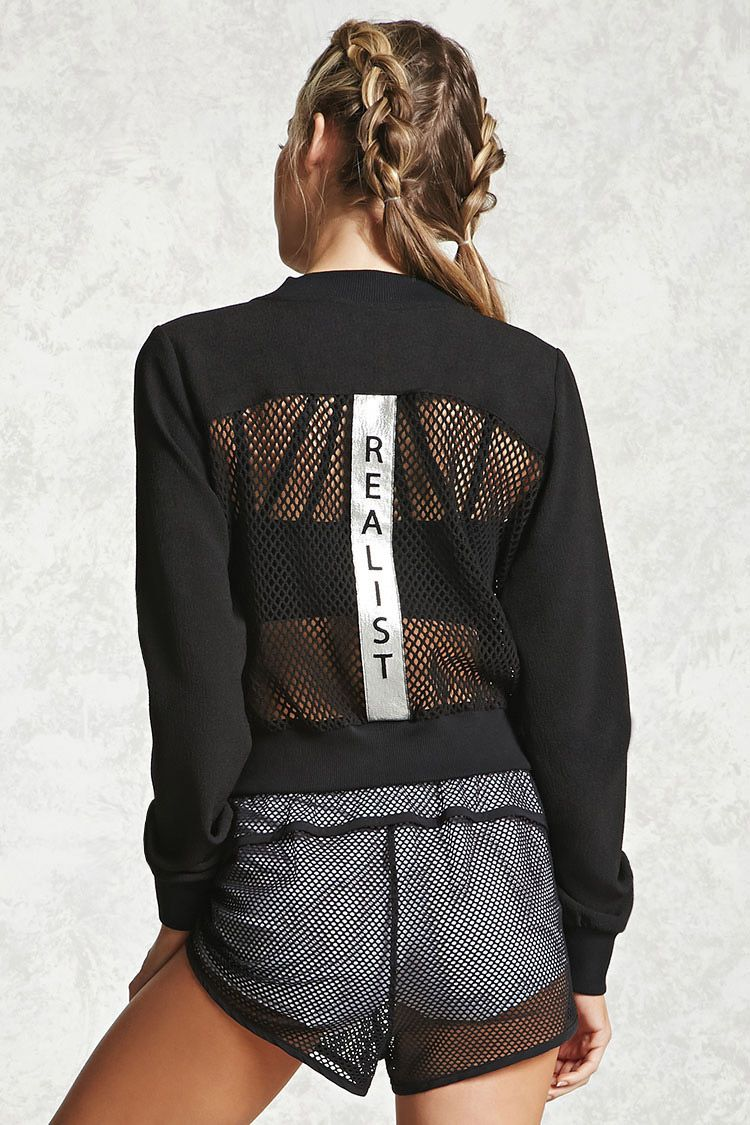 A woven athletic zipup hoodie featuring a meshpaneled