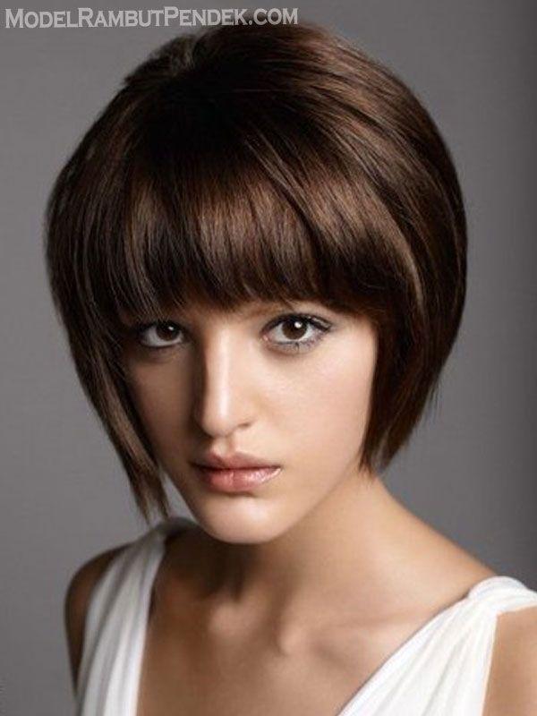 model rambut pendek mengembang