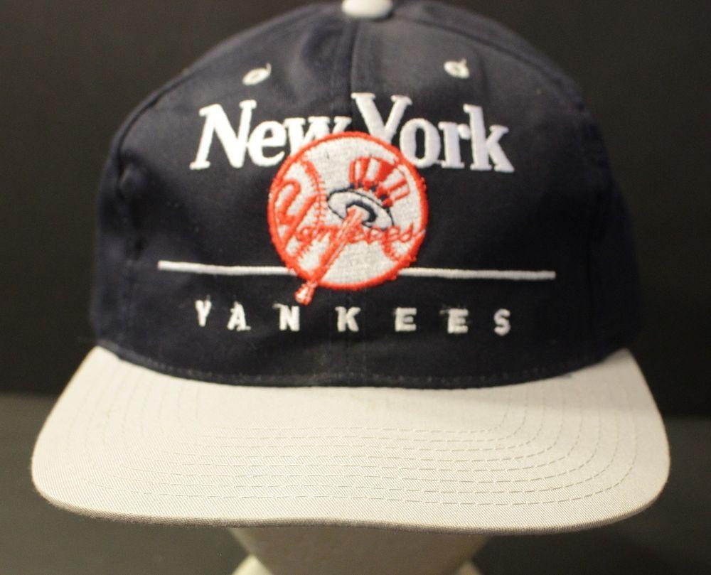 Vintage New York Yankees Snapback Hat Baseball Cap Retro Hat