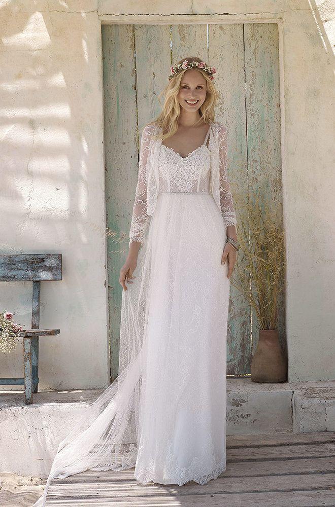 Rembo styling — Vintage — Max: Sexy Spitzen Kleid mit Empire-Taille ...