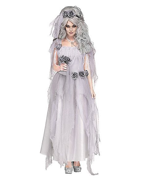 Bride Ghost Zombie Wedding Gown Party Women Dress Halloween Cosplay Costume
