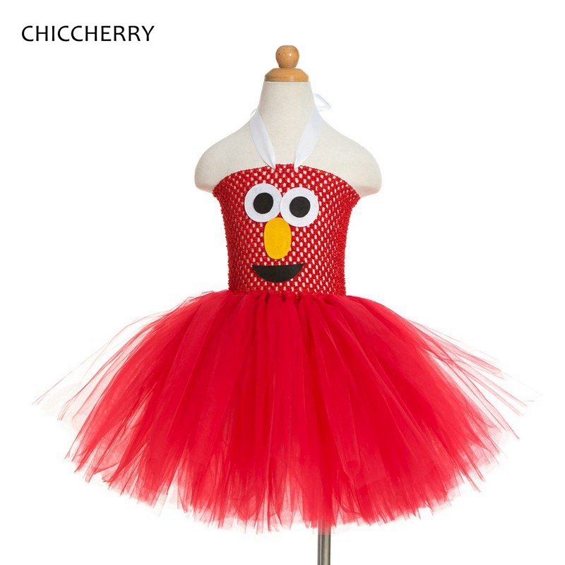 17.00$  Buy here - Summer 2017 Sesame Street Elmo Costume For Kids Dresses For Girls Clothes Red Lace Tutu Baby Girl Party Dress Children Clothing  #magazineonline