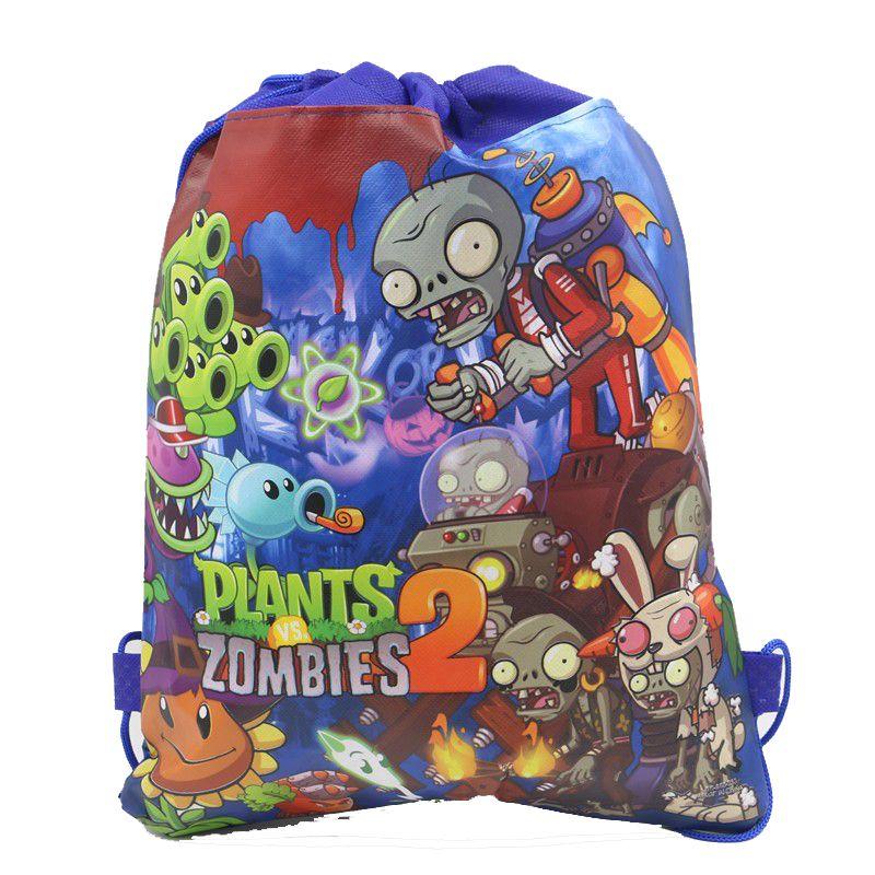 12Pcs Plants vs Zombies Drawstring Boys Girls Cartoon School Bag Children  Printing School Backpacks for Birthday a1fdfe9762