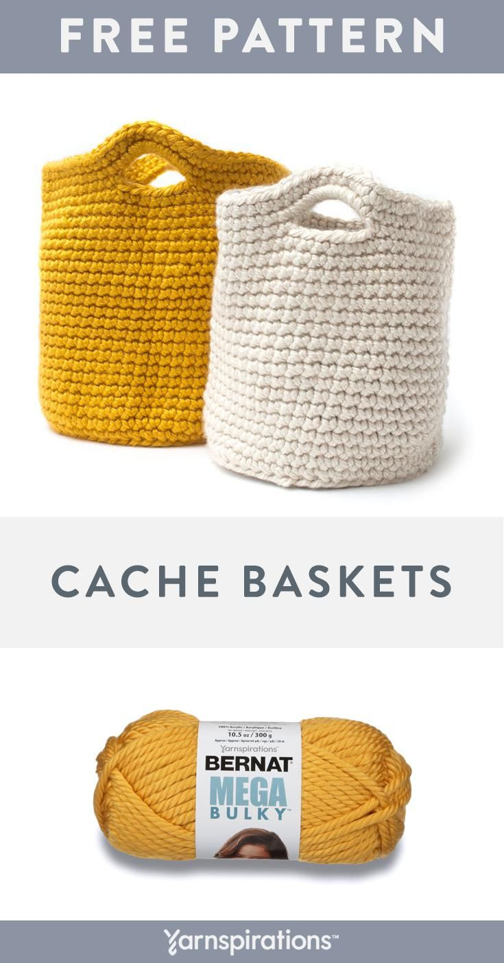 Our Super Thick Bernat Mega Bulky Is The Ideal Yarn For This Work Allowing You To Finish A Lux Crochet Basket Pattern Free Crochet Tote Crochet Basket Pattern