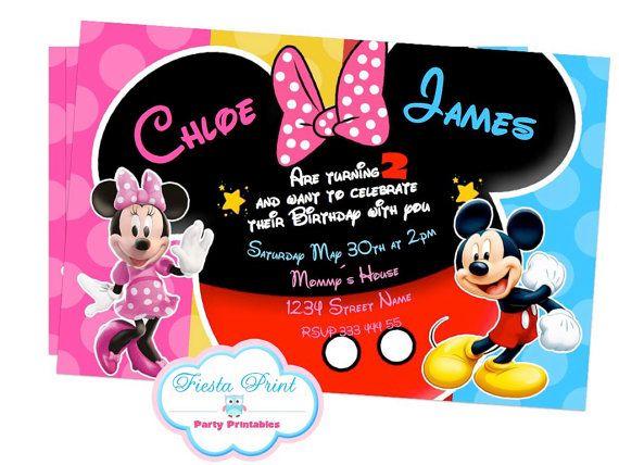 Invitaciónes Mickey Y Minnie Para Imprimir Imagui