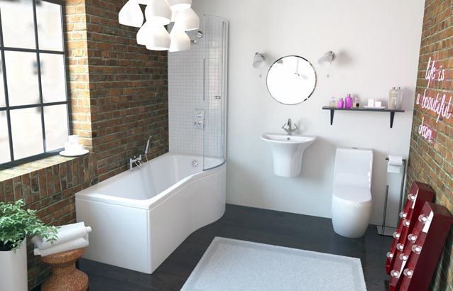 Maderno Signature 3 Piece Bath Suite Sv7800017 Scene Rectangle Medium Shower Bath Bathroom Bathroom Suites