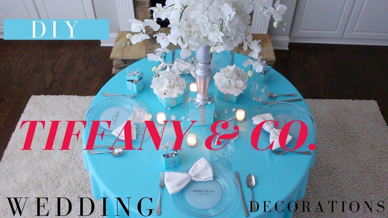 Diy Tiffany Co Wedding Decor Diy Tiffany Box Centerpiece Diy Wedd Wedding Centerpieces Diy Diy Wedding Decorations Diy Centerpieces