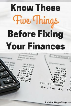 The Basics of Personal Finance Know These 5 Things Before Fixing