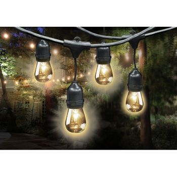 Feit Electric Led String Lights Mesmerizing Feit Electric Outdoor Weatherproof String Light Set  48 Feet Long Design Inspiration