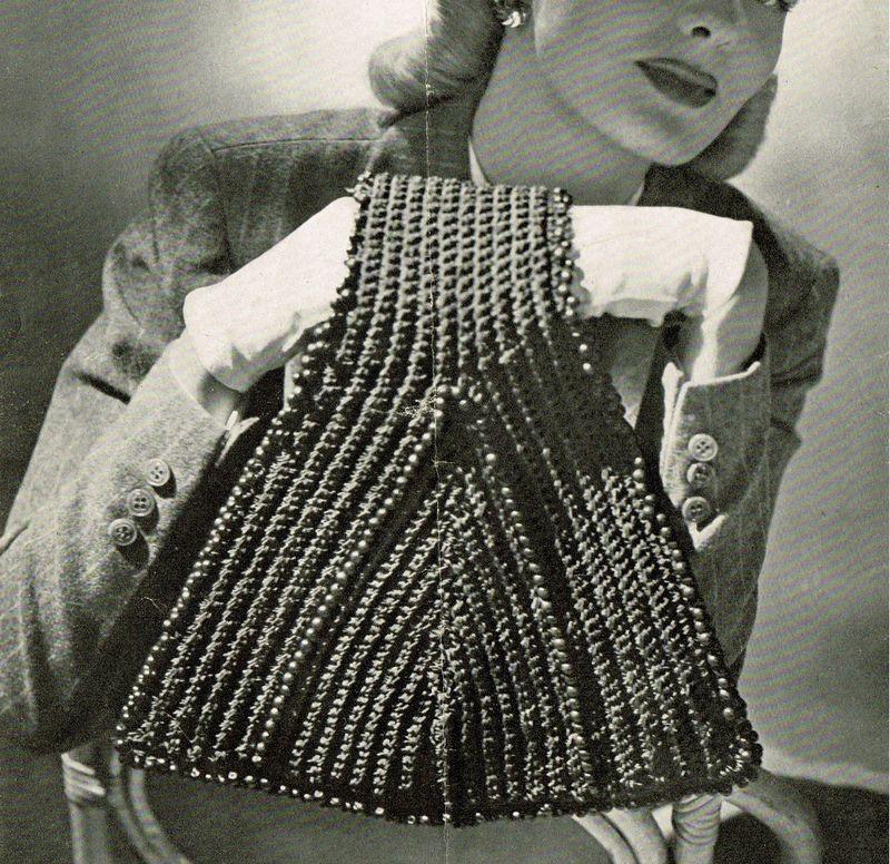 Vintage 1940s Hand Bag Crochet Patterns Vintage Crochet Crochet Shell Stitch Vintage Crochet Patterns