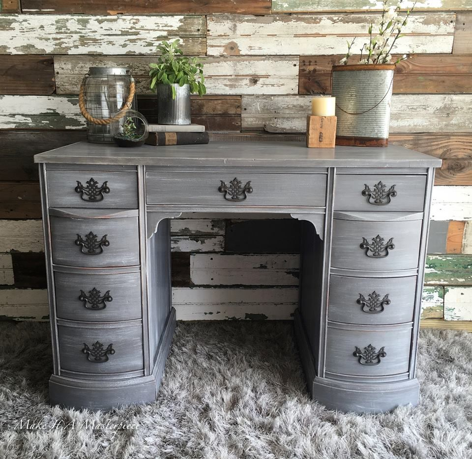 General Finishes Driftwood Milk Paint And Finished In A White Wax