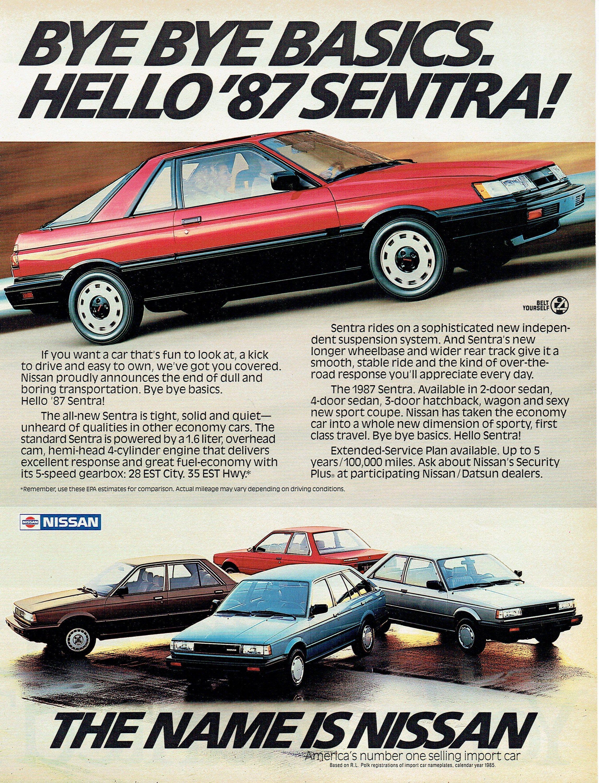 1987 Advertisement For Nissan Sentra 87 Red Coupe 2 Door Etsy Autos Y Motos Autos Autos Antiguos 2020 nissan sentra sr premium. nissan sentra 87 red coupe