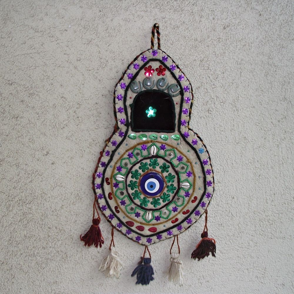 Vintage evil eye wall decor turkish handmade hanging wall original vintage evil eye wall decor turkish handmade hanging wall original rug kilim turkish amipublicfo Gallery
