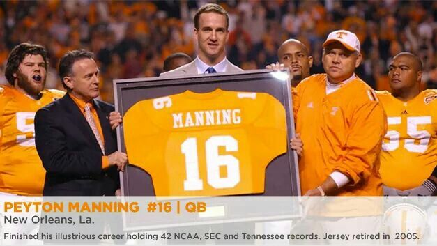 the best attitude 129e1 833a8 Nine years ago the Vol's retired #16, the jersey number wore ...