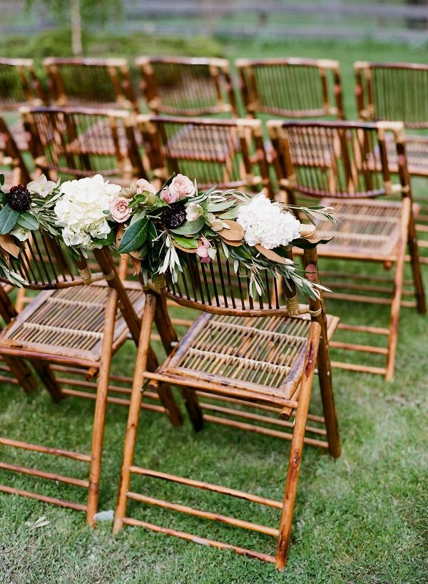 Bamboo Chairs With White Hydrangeas Qlix Photography