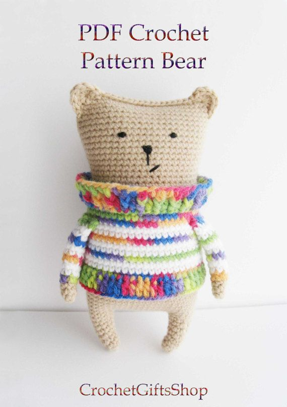 Amigurumi bear Crochet pattern Digital Download pdf | Patrones de ...