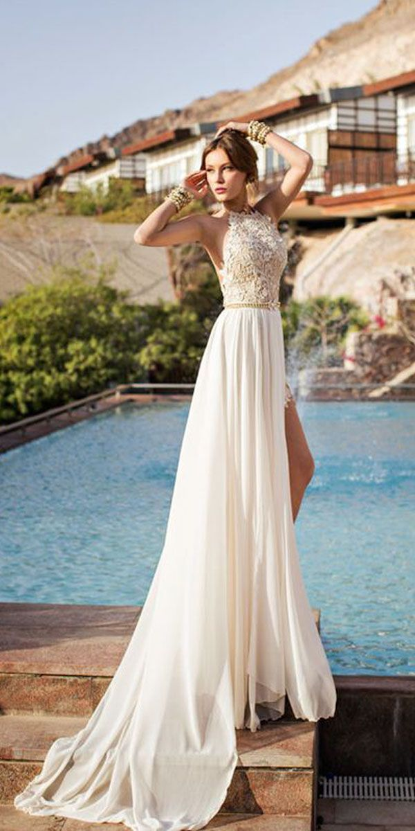 Topv Over the Beautiful Beach Wedding Dress