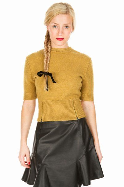 carven felted wool cropped crew
