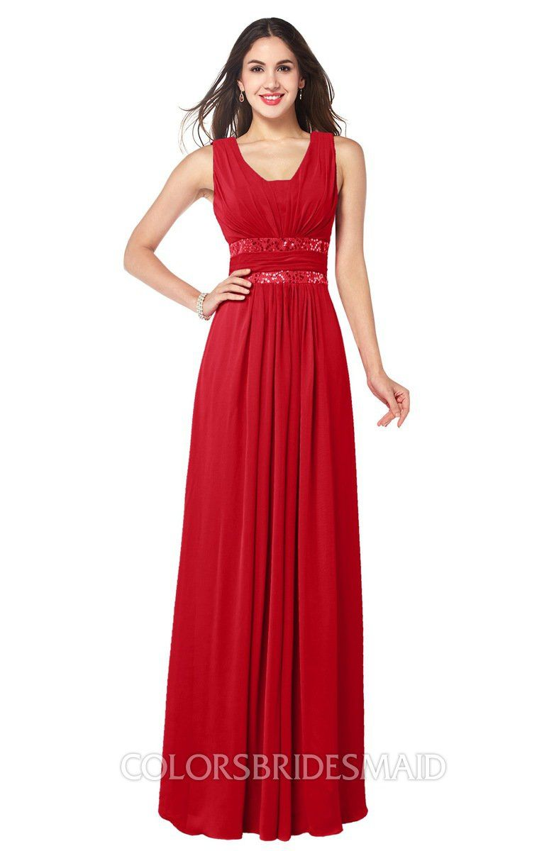 Colsbm kelly red bridesmaid dresses in prom dresses