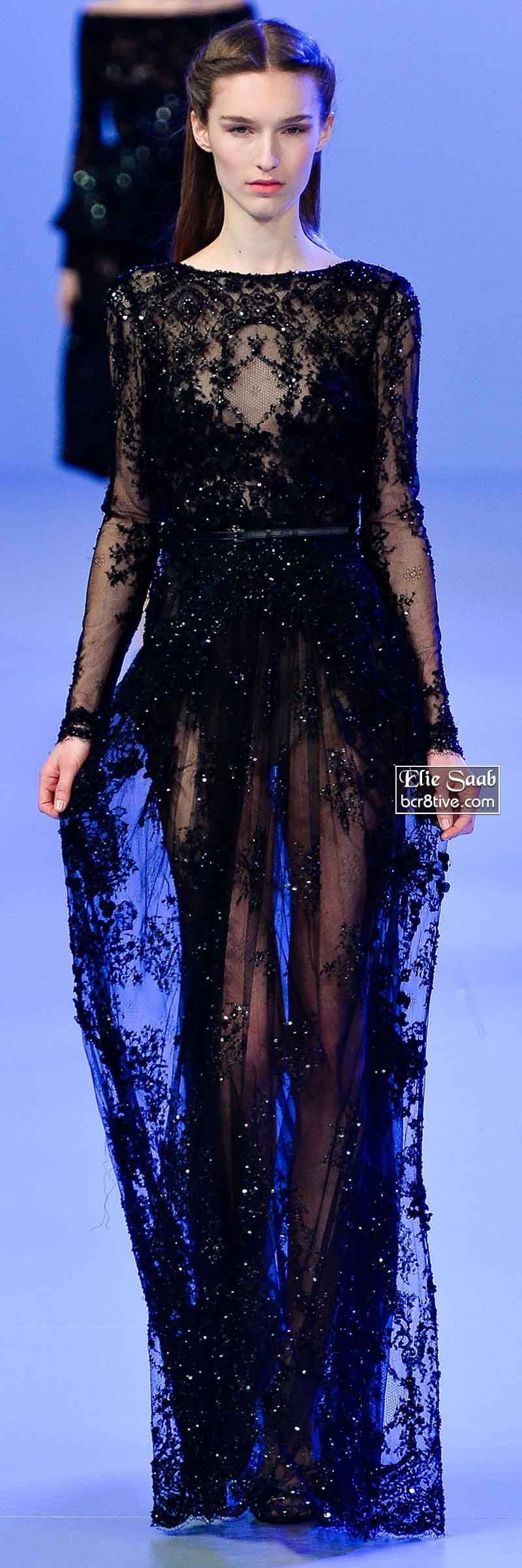 This is the dress I want to die in. So incredibly dark and regal. Elie Saab Spring 2014 Couture Collection. Love this!