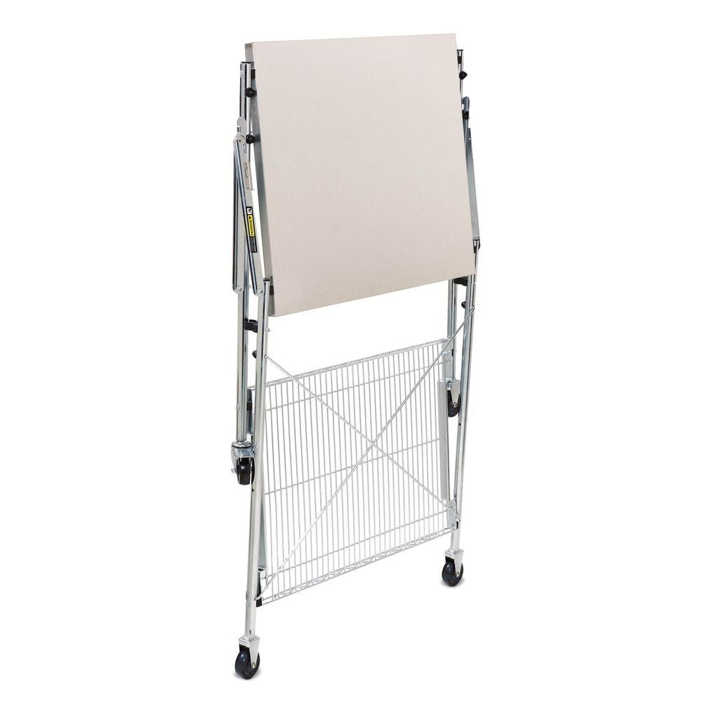 30 in. x 24 in. x 36 in. Folding Urban Work Table in Stainless Steel (Silver)