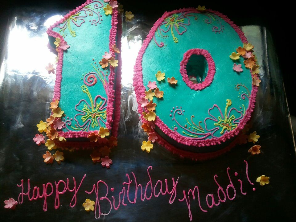 Hawaiian Theme 10th Birthday Cake Party Ideas Pinterest