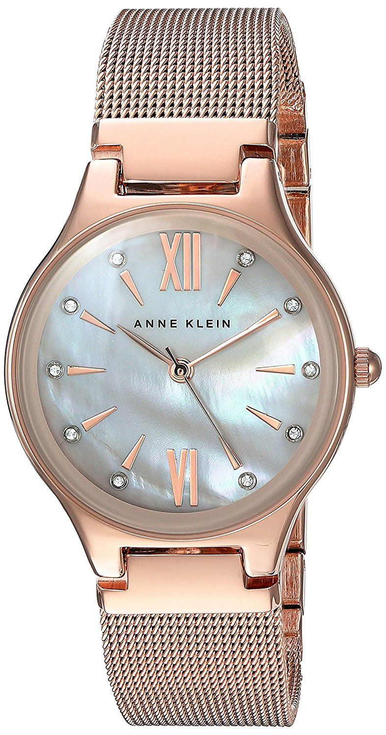Anne Klein Women's Quartz Metal and Stainless Steel Dress Watch, Color:Rose Gold-Toned (Model: AK/2418BMRG) -- To view further for this watch, visit the image link.