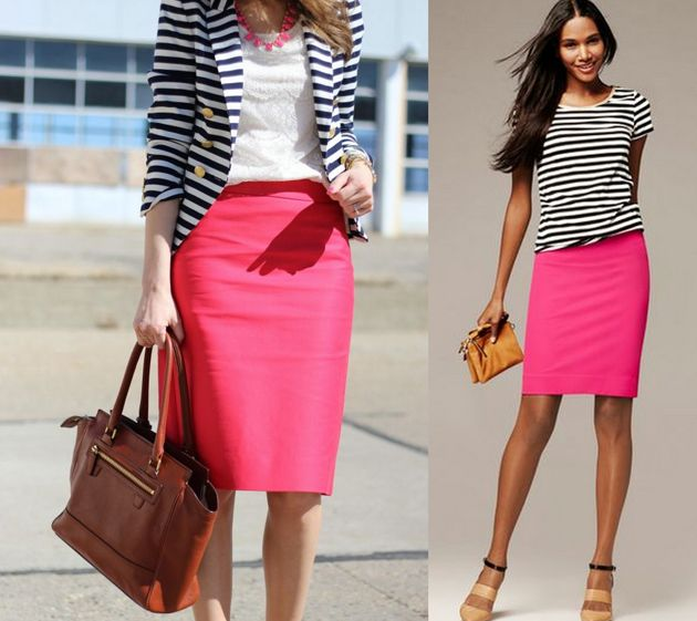 Pencil skirt to office. Color combinations and tips - by Style ...