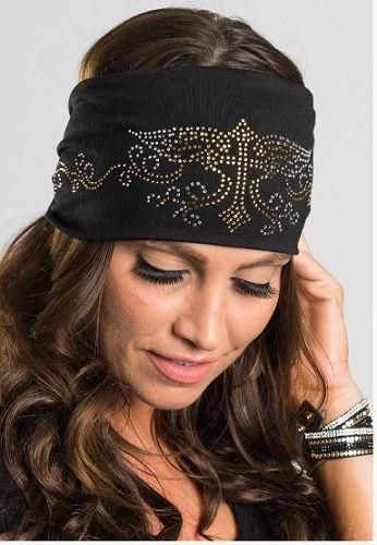 Cross and Angel Wings Hairband Headband Headwrap Biker Style Hair Glove EZ  Bandz  c65bc03823b