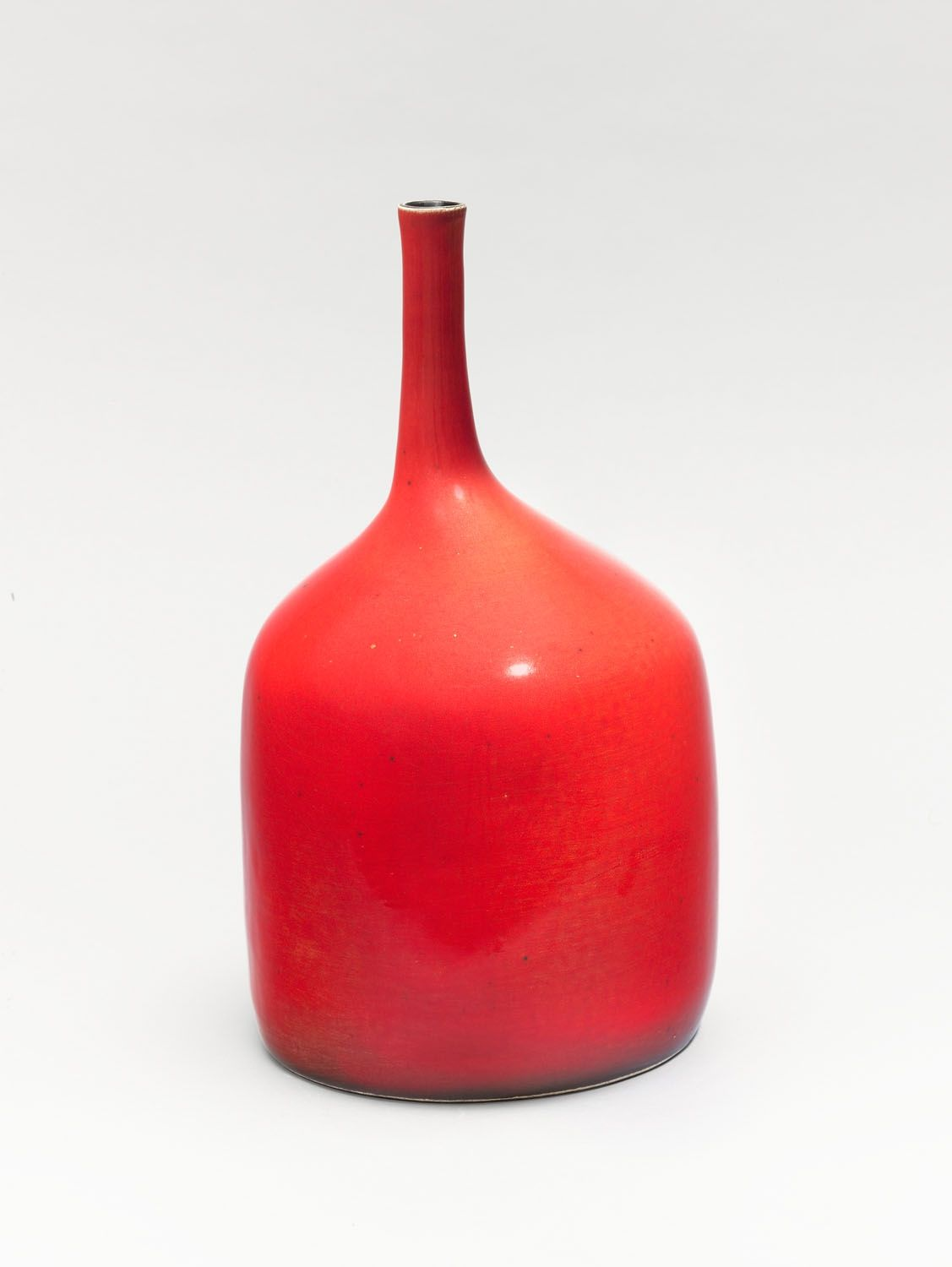 Georges Jouve, Bellied Bottle (1955)   red ceramics