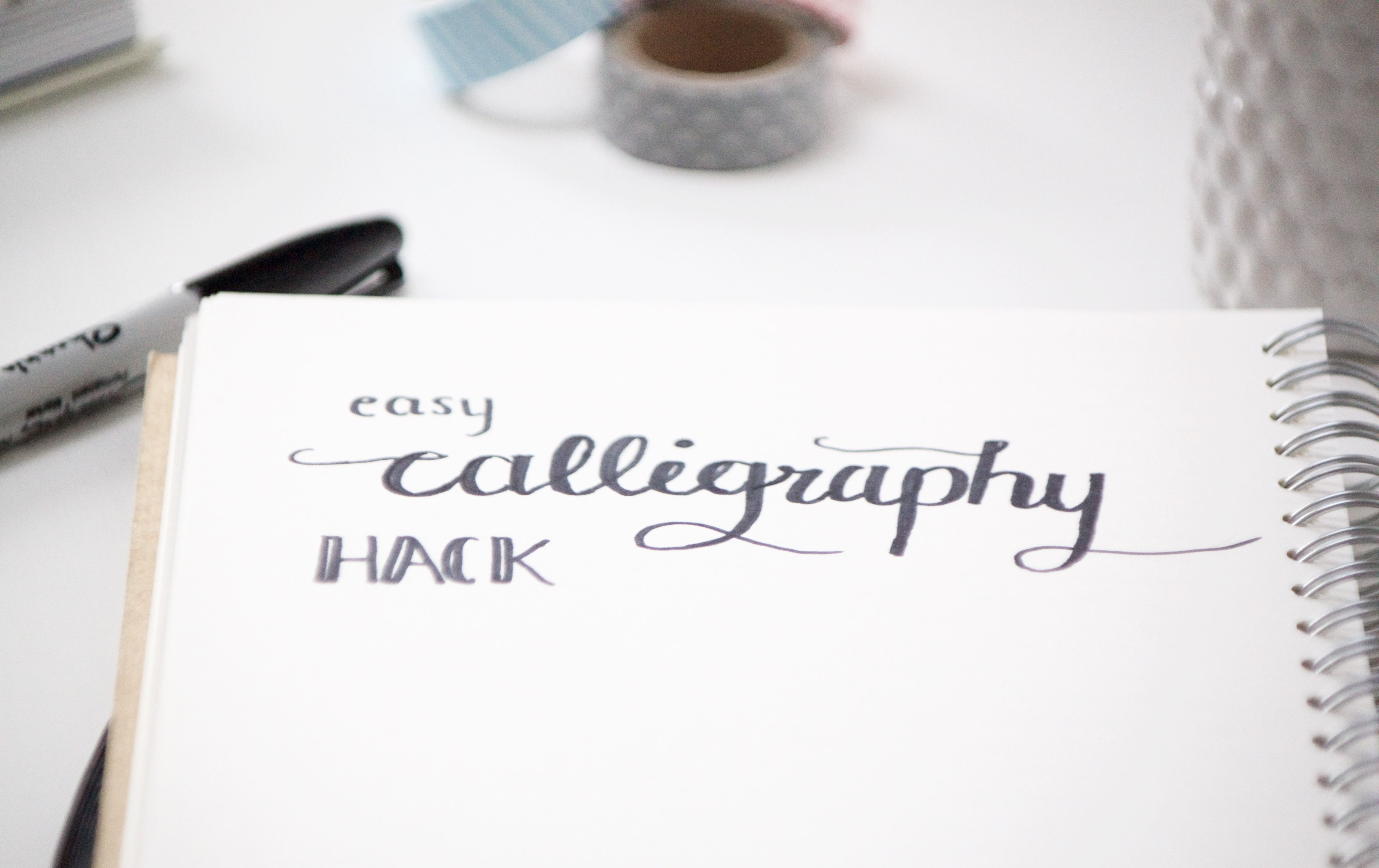 Easy calligraphy hack calligraphy bullet and bullet journals