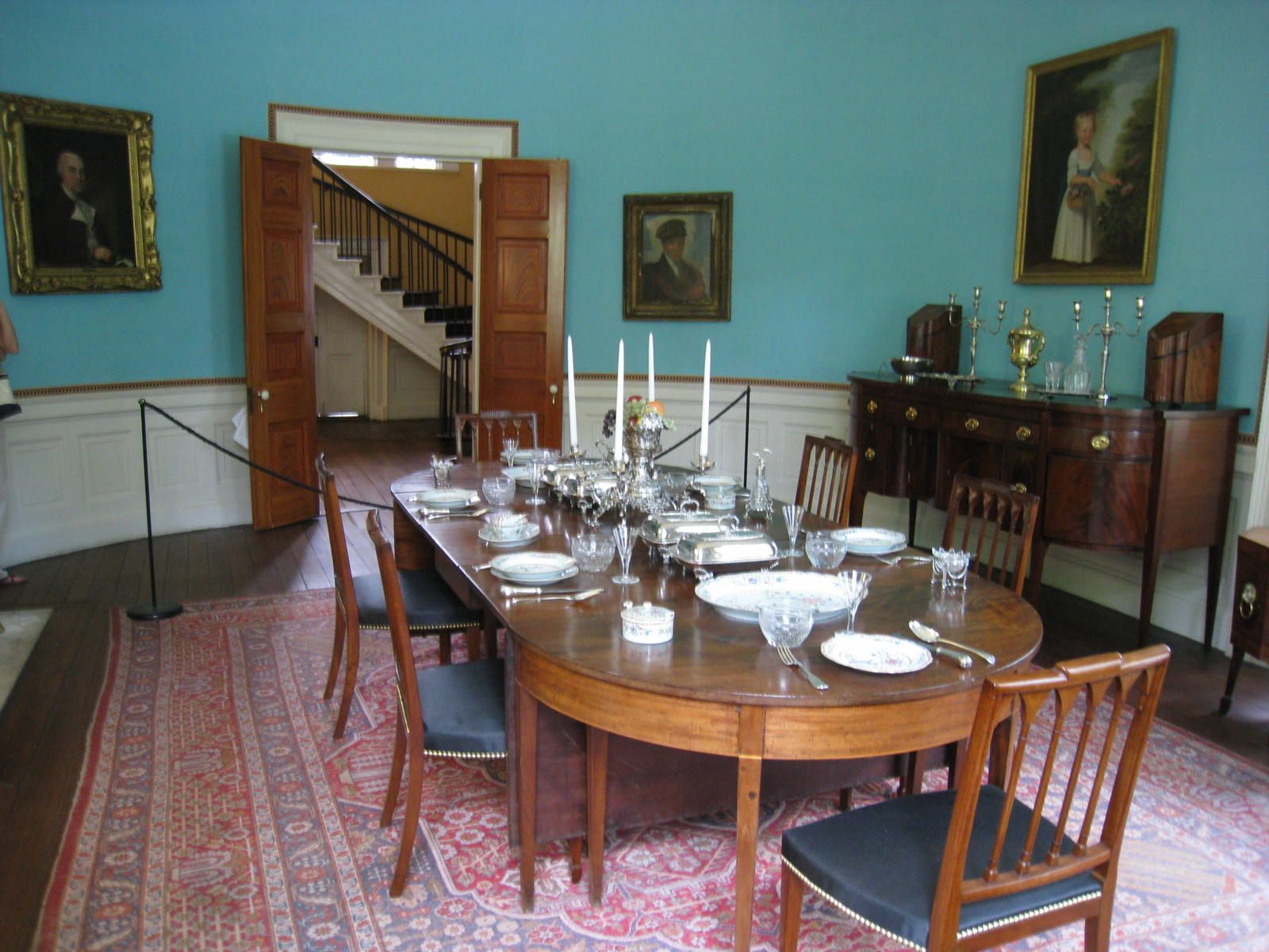 Nathaniel Russell House dining room Credit Arthur Howe
