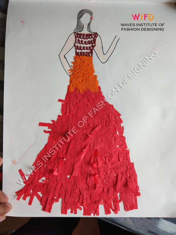 Concept Dress Design With Craft Paper Concepts To Illustration
