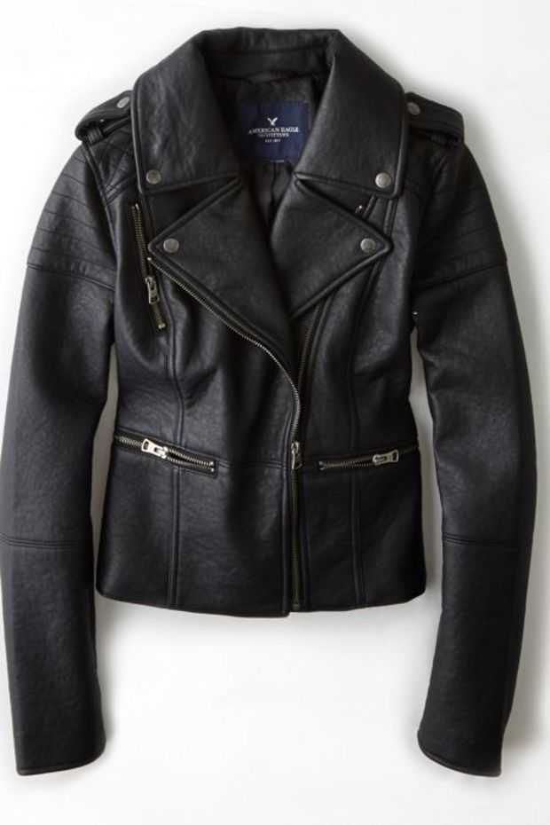 Aeo Women S Quilted Vegan Leather Moto Jacket True Black Vegan Leather Moto Jacket Jackets Women S Coats Jackets