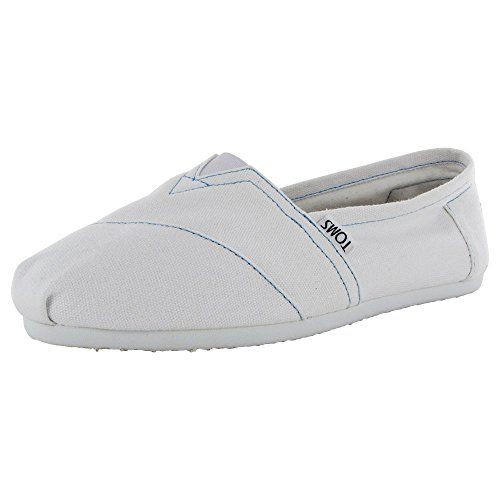 TOMS Shoes Womens White TOMS Canvas 95
