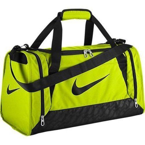 7cdc71fc8e Nike Brasilia 6 Small Duffle Bag Yellow   Black NWT  Nike  DuffleGymBag