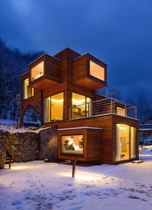 Modern Home Located In Montonate Italy: Szuflandia Apartments Brandys Design + Modern House The
